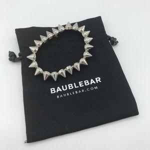 Bauble Bar Silver Spiked Bracelet